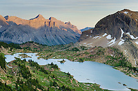 Evening light over Limestone Lakes Basin, Height-of-the-Rockies Provincial Park British Columbia Canada