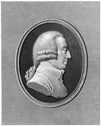 Adam Smith, 18th century Scottish philosopher and economist. Smith (1723-1790) was the author of the highly influential 'Inquiry into the Nature and Causes of the Wealth of Nations', published in 1776. Engraving after a Tassie medallion.