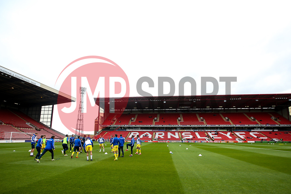 Bristol Rovers warm up at Barnsley - Mandatory by-line: Robbie Stephenson/JMP - 27/10/2018 - FOOTBALL - Oakwell Stadium - Barnsley, England - Barnsley v Bristol Rovers - Sky Bet League One