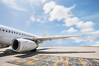 Airbus aircraft on airport; Koh Samui; Thailand