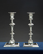 George III Candlestick Pair for F. Gorevic & Son
