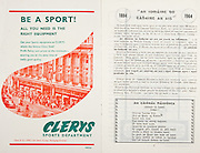 All Ireland Senior Hurling Championship Final,.06.09.1964, 09.06.1964, 6th September 1964,.Minor Cork v Laois, .Senior Kilkenny v Tipperary, Tipperary 5-13 Kilkenny 2-08,..Clerys sports department,