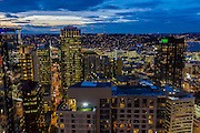 Seattle, Washington skyline at dawn