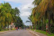 Street in Chambas, Ciego de Avila Province, Cuba.