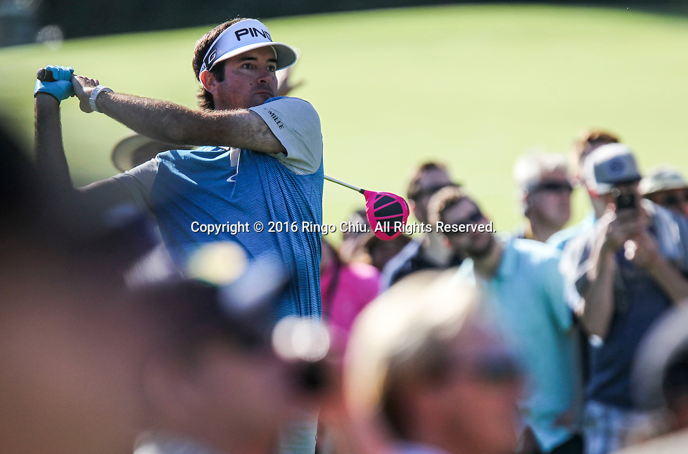 Bubba Watson plays on the final round of the PGA Tour Northern Trust Open golf tournament at Riviera Country Club on February 21, 2016, in Los Angeles. Bubba Watson won the Northern Trust Open.(Photo by Ringo Chiu/PHOTOFORMULA.com)<br /> <br /> Usage Notes: This content is intended for editorial use only. For other uses, additional clearances may be required.