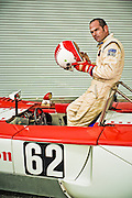 Andy Greene, race car driver, photographed at Andy Greene Sports and Vintage Racing.