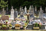 Graveyard at St Amand de Coly, Dordogne, France