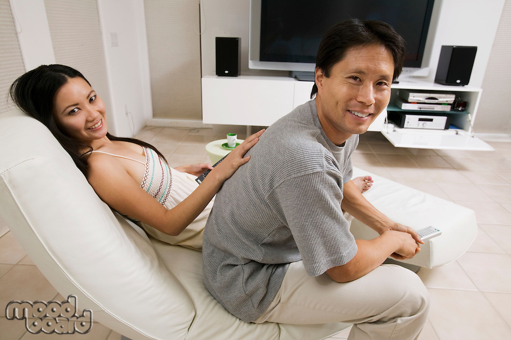 Couple in Living Room Together