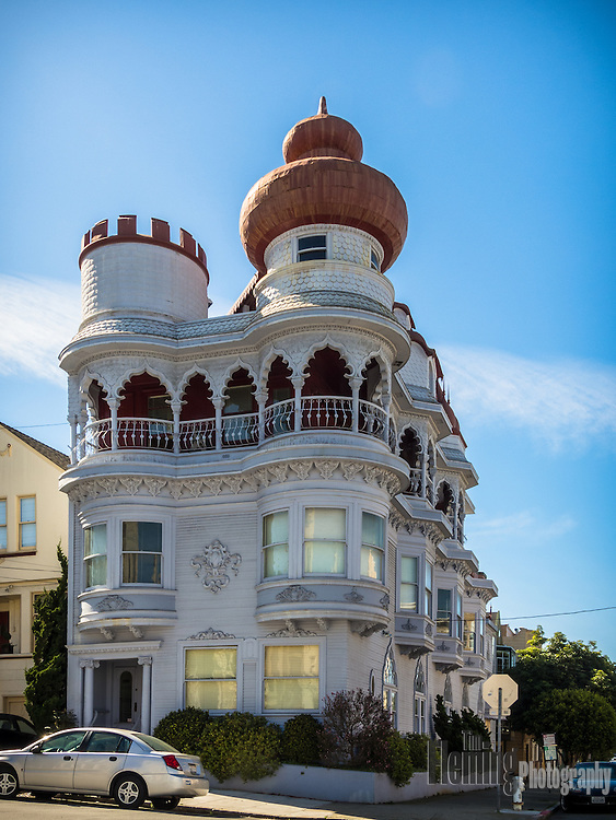 The Vedanta Society Building, 2963 Webster St in San Francisco, is said to be the first Hindu Temple in the Western Hemisphere.