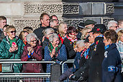 Veterans, incl Wrens, march past the Cenothaph and down Whitehall - Remembrance Sunday and Armistice Day commemorations fall on the same day, remembering the fallen of all conflicts but particularly the centenary of the end of World War One.