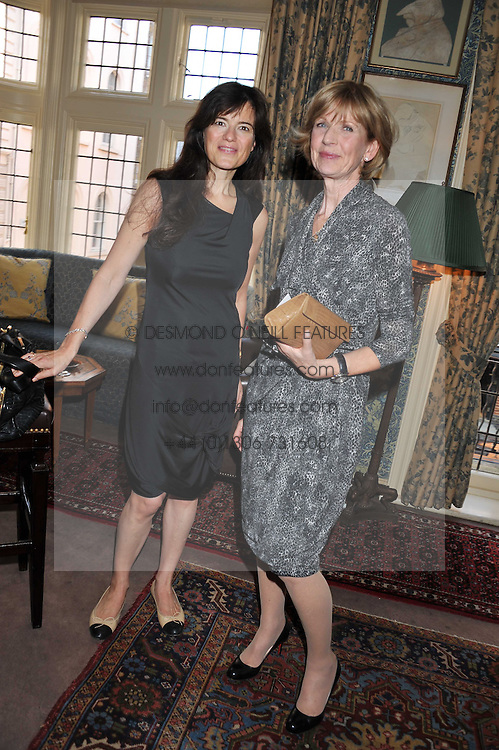 Left to right, KATE SLESSINGER and ELIZABETH STANBURY at a lunch in aid of the charity Kids Company held at Mark's Club, 46 Charles Street, London on 3rd October 2011.