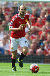 MANCHESTER, ENGLAND - Saturday, August 8, 2015: Manchester United's Daley Blind in action against Tottenham Hotspur during the Premier League match at Old Trafford. (Pic by David Rawcliffe/Propaganda)
