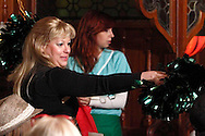 "Tamra Francis as Gabby Bracer (left) and Heather Atkinson as Cindy Clipping during Mayhem & Mystery's production of ""Tailgate Threats"" at the Spaghetti Warehouse in downtown Dayton, Friday, September 13, 2013."
