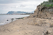 Palermo, waste dump covered with soil in the mouth of the Oreto river.<br />