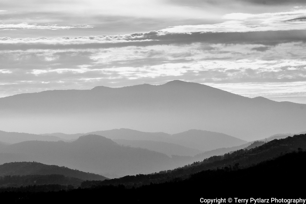Shenandoah National Park black and white