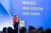 23 NOV 2018, BERLIN/GERMANY:<br /> Angela Merkel, CDU, Bundeskanzlerin, haelt eine Rede, Deutscher Arbeitgebertag 2018, Vereinigung Deutscher Arbeitgeber, BDA, Estrell Convention Center<br /> IMAGE: 20181123-01-259