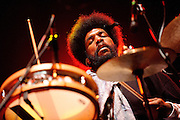 Drummer Questlove performing with the Roots at the Fox Theater in St. Louis, Missouri on May 29, 2008 .