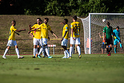 Players of NK Bravo during football match between NK Bravo and NK Rudar Velenje in 1sth Round of Slovenian Cup 2019/20, on August 15, 2019 in Sports park ZAK, Ljubljana, Slovenia. Photo by Grega Valancic / Sportida