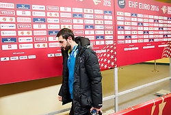 Dragan Gajic of Slovenia leaving the arena after the handball match between National teams of Germany and Slovenia on Day 6 in Preliminary Round of Men's EHF EURO 2016, on January 20, 2016 in Centennial Hall, Wroclaw, Poland. Photo by Vid Ponikvar / Sportida