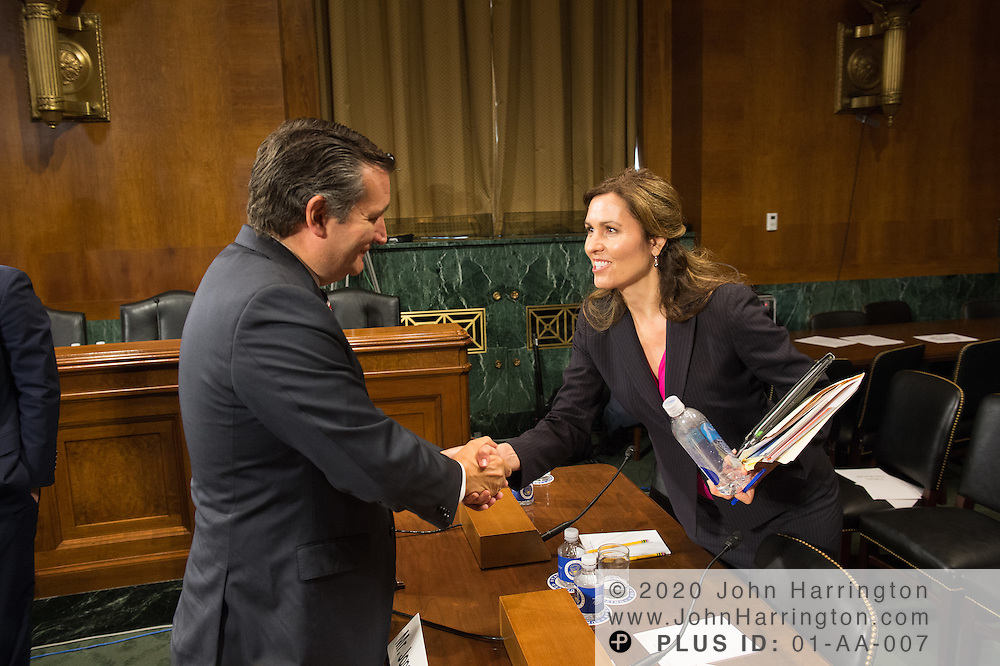 "Sen. Ted Cruz greets Ms. Dawn Grove, Corporate Counsel<br /> Karsten Manufacturing testifies Wednesday September 14, 2016, before the Subcommittee on Oversight, Agency Action, Federal Rights and Federal Courts, testimony was also heard from The Honorable Lawrence E. Strickling, Assistant Secretary for Communications and Information and Administrator<br /> National Telecommunications and Information Administration (NTIA), United States Department of Commerce;  Mr. Göran Marby, CEO and President, Internet Corporation for Assigned Names and Numbers (ICANN); Mr. Berin Szoka, President, TechFreedom; Mr. Jonathan Zuck, President, ACT The App Association;  Ms. Dawn Grove, Corporate Counsel<br /> Karsten Manufacturing; Ms. J. Beckwith (""Becky"") Burr, Deputy General Counsel and Chief Privacy Officer, Neustar;  Mr. John Horton, President and CEO, LegitScript;  Mr. Steve DelBianco, Executive Director, NetChoice; Mr. Paul Rosenzweig, Former Deputy Assistant Secretary for Policy, U.S. Department of Homeland Security."