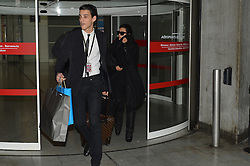 File photo: Kim's driver Gary Madar (suspected in Kim's 2016 robbery) and pregnant Kim Kardashian arrive at Roissy-Charles de Gaulle airport in Paris, France on January 10, 2013. Drivers Mickael Madar and his brother Gary Madar are the main suspects three months after the Kim Kardashian' robbery in a mansion in Paris during Fashion Week, the police conducted an extensive dragnet. 16 people aged 23-73 years arrested at 6am this morning in Paris and suburb. Photo by ABACAPRESS.COM