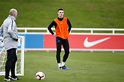Declan Rice (West Ham) during the England training session ahead of the UEFA Euro Qualifier against the Czech Repulbic, at St George's Park National Football Centre, Burton-Upon-Trent, United Kingdom on 19 March 2019.