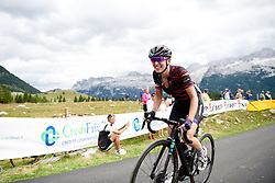 Kasia Niewiadoma (POL) battles up the final climb during Stage 9 of 2019 Giro Rosa Iccrea, a 125.5 km road race from Gemona to Chiusaforte, Italy on July 13, 2019. Photo by Sean Robinson/velofocus.com