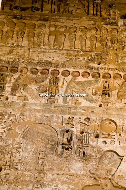 Egypt. Louxor.  Medinet Habou -Medinet Habou, RAMSES 3 temple in Thebes  Louxor - Egypt    /  Medinet Habou, temple de Ramses 3 a Thebes  Louqsor - Egypte