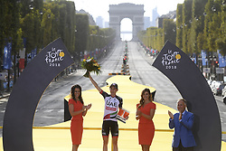 July 29, 2018 - Paris Champs-Elysees, France - PARIS CHAMPS-ELYSEES, FRANCE - JULY 29 : MARTIN Daniel (IRL) of UAE Team Emirates pictured on the podium during stage 21 of the 105th edition of the 2018 Tour de France cycling race, a stage of 116 kms between Houilles and Paris Champs-Elysees on July 29, 2018 in Paris Champs-Elysees, France, 29/07/18 (Credit Image: © Panoramic via ZUMA Press)