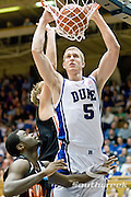 3 November 2009: Dukes #5 Mason Plumlee dunks the ball..The Duke Blue Devils defeat the Findlay Oilers 84 -48 in an exhibition game. Kyle Singler had 20 points as Duke wraps up it's pre-season.. Mandatory Credit:Mark Abbott / Southcreek Global