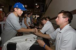 27 May 2007: Duke Blue Devils attackman Matt Danowski (40) signs autographs at M&T Bank Stadium in Baltimore, MD.