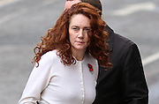 Rebekah Brooks arrives at the Old Bailey on November 01, 2013.<br /> <br /> Brooks will stand trial alongside former managing editor Stuart Kuttner; former news editor Ian Edmondson; and Rebekah Brooks. All deny conspiracy to intercept mobile phone voicemail messages. Coulson and former NotW royal editor Clive Goodman deny charges of conspiracy to commit misconduct in a public office. Brooks also denies two charges of this. She also faces charges of conspiracy to pervert the course of justice, along with former personal assistant Cheryl Carter, 49, husband Charlie Brooks, 50, and NI head of security Mark Hanna, 50. <br /> Photo Ki Price