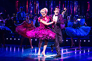 Strictly Ballroom <br /> By Baz Luhrmann <br /> At The Piccadilly Theatre, London, Great Britain <br /> Press photocall <br /> 17th April 2018 <br /> <br /> Stephen Matthews as Doug Hastings <br /> Anna Francolini as Shirley Hastings <br /> <br /> And company