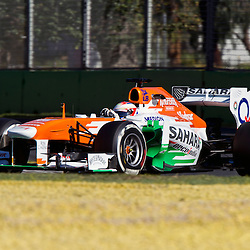 F1 Australian Grand Prix 15 March 2013 Practice Session 2.Practice Session 2.  Paul Di Resta Sahara Force India Turn 6.(c) MILOS LEKOVIC | StockPix.eu