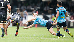 Durban. 030318. Durban. 030318. Lukhanyo Am of the Sharks  during the Super Rugby match between Cell C Sharks and Waratahs at Kings Park on March 03, 2018 in Durban, South Africa. Picture Leon Lestrade/African News Agency/ANA