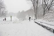 Winter near Cedar Hill in Central Park.