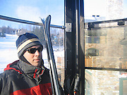 James in the gondola.