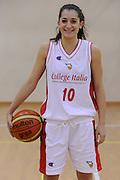 DESCRIZIONE : Roma Acqua Acetosa College Italia<br /> GIOCATORE : Francesca Melchiori<br /> CATEGORIA : ritratto posato<br /> SQUADRA : College Italia FIP<br /> EVENTO : Stagione 2011-2012<br /> GARA : <br /> DATA : 28/11/2011<br /> SPORT : Pallacanestro<br /> AUTORE : Agenzia Ciamillo-Castoria/GiulioCiamillo<br /> Galleria : Fip Nazionali 2011 <br /> Fotonotizia : Roma Acqua Acetosa College Italia