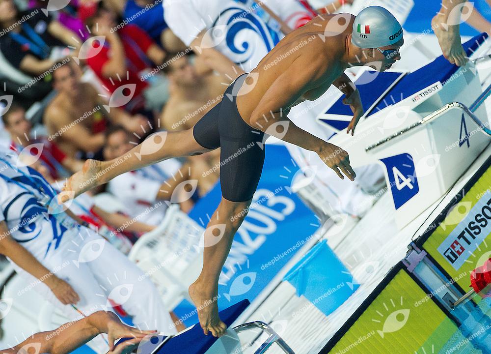 Codia Piero Italy ITA<br /> 50 butterfly men<br /> 27th Summer Universiade <br /> 5 - 17 July 2013 Kazan Tatarstan Russia<br /> Day 06 Swimming heats<br /> Photo G. Scala/Insidefoto/Deepbluemedia.eu
