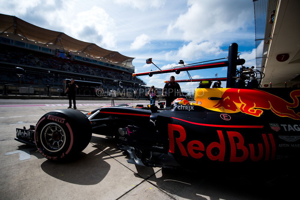 October 19-22, 2017: United States Grand Prix. Max Verstappen (DEU), Red Bull Racing, RB13
