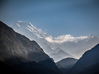 Views of Annapurna South from Ulleri, Nepal