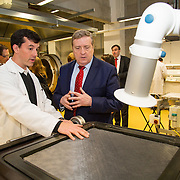 03.03.2017        <br /> Minister of State for Employment and Small Business, Pat Breen TD highlighted the growth potential in the aerospace and aviation industries in the Mid West during a recent visit to the University of Limerick. <br /> <br /> During his visit Minister of State for Employment and Small Business, Pat Breen TD was taken on tour of the Aeronautical labs at the Bernal Institute and was shown some materials in the labs by Robert Telford, Post Doc Researcher Bernal Institute. Picture: Alan Place