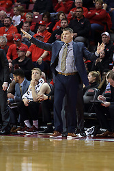 10 January 2018:  Porter Moser during a College mens basketball game between the Loyola Chicago Ramblers and Illinois State Redbirds in Redbird Arena, Normal IL