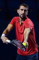 28.10.2016;  Basel; Tennis - Swiss Indoors 2016; Marin Cilic (CRO)<br /> (Steffen Schmidt/freshfocus)