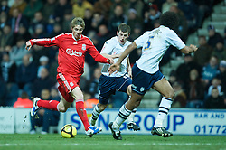 PRESTON, ENGLAND - Saturday, January 3, 2009: Liverpool's Fernando Torres in action against Preston North End during the FA Cup 3rd Round match at Deepdale. (Photo by David Rawcliffe/Propaganda)