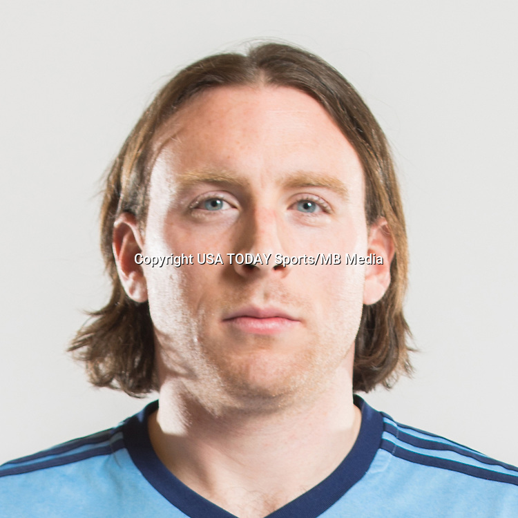 Feb 25, 2017; USA; New York City FC player Tommy McNamara poses for a photo. Mandatory Credit: USA TODAY Sports