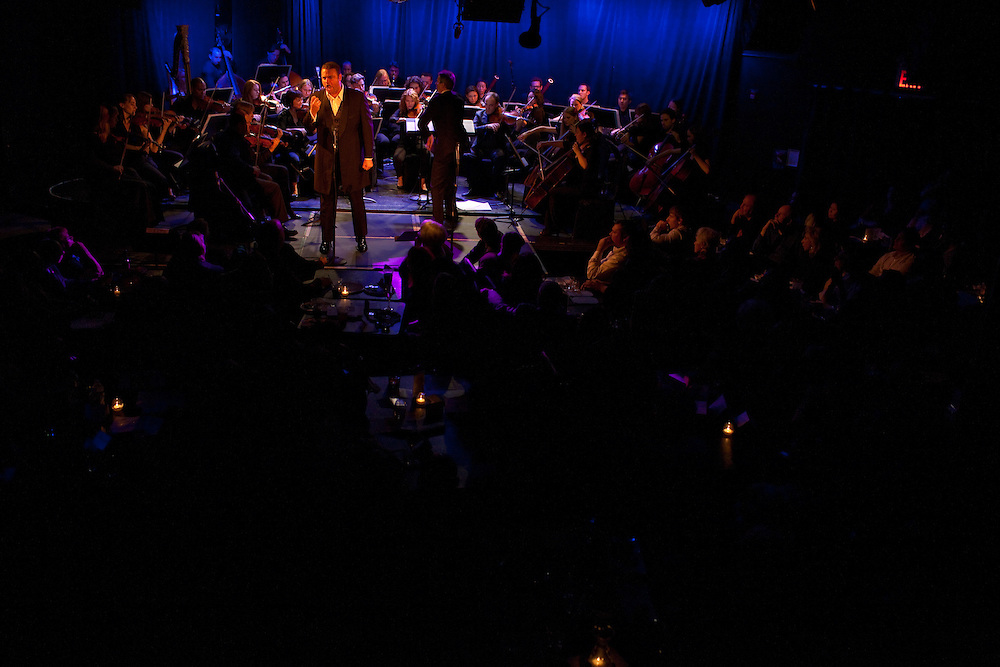 Tenor Joseph Calleja performing at Le Poisson Rouge on October 24, 2011.
