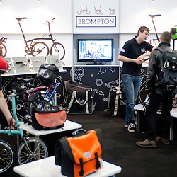 London, UK - 17 January 2013:  Brompton stand during the London Bike show 2013 at Excel.
