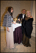 NINA DARZI; LORD DARZI;  LADY DARZI , The Old Russian New Year's Eve Gala. In aid of the Gift of Life foundation. Savoy Hotel, London. 13 January 2015.