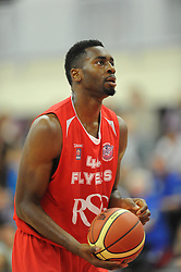 Bristol Flyers' Alif Bland prepares to take a free throw - Photo mandatory by-line: Paul Knight/JMP - Mobile: 07966 386802 - 15/11/2014 - SPORT - Football - Bristol - SGS Wise Arena - Bristol Flyers v Cheshire Phoenix - Bristol Basketball League